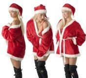 claus Santa trzy zdjęcia royalty free