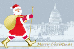 claus santa washington royaltyfri illustrationer