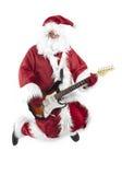 claus skacze rockowego Santa Zdjęcia Royalty Free
