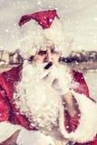 claus smutny Santa Obrazy Royalty Free