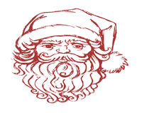 claus twarz Santa Fotografia Stock