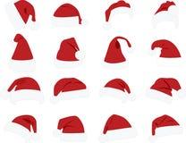 Claus van Snata hoed Stock Afbeeldingen