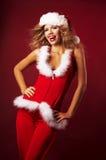 Claus vêtx s'user sexy de Santa de fille Images stock