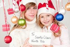 claus wiadomość Santa Zdjęcia Royalty Free