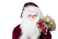 claus zbliżenia prezentów szkieł portret Santa Zdjęcia Royalty Free