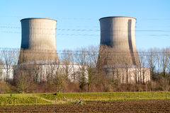 Clauscentrale kraftverk i Maasbracht, Nederländerna Royaltyfria Bilder