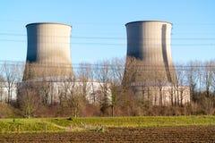 Clauscentralekrachtcentrale in Maasbracht, Nederland Royalty-vrije Stock Afbeeldingen