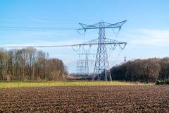Clauscentralekrachtcentrale in Maasbracht, Nederland Stock Foto's