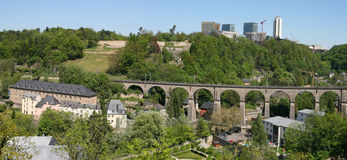 Clausen Viaduct, Luxembourg. Luxembourg city, Viaduc de Pfaffenthal Stock Images