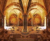 claustro修道院nico rom罗马式 免版税库存照片