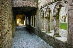 Claustro Abadía de Bective ajuste condado Meath irlanda Fotos de archivo