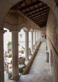 Claustro da abadia do licor beneditino de Montecassino Fotografia de Stock