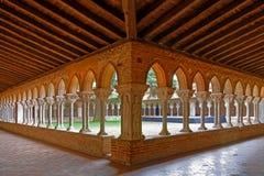 Claustro da abadia em Moissac Foto de Stock