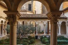 Claustro da catedral de Aix-en-Provence Imagem de Stock