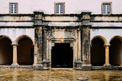 Claustro De D Joao III, podwórze przy 12 th wieka klasztorem Chrystus w Tomar, Portugalia UNESCO światowego dziedzictwa miejsca R zdjęcia stock