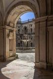 Claustro de Dom Joao III no convento de Templar de Cristo em Tomar Imagens de Stock
