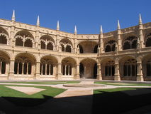 claustro De Jeronimo mosteiro sao Fotografia Royalty Free