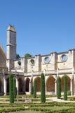 Claustro de la abadía de Royaumont Fotografía de archivo libre de regalías
