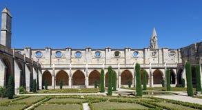 Claustro de la abadía de Royaumont Fotos de archivo