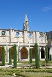 Claustro de la abadía de Royaumont Foto de archivo libre de regalías