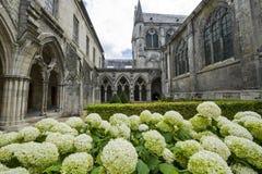 Claustro de la abadía en Soissons Imagen de archivo