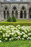 Claustro de la abadía en Soissons Fotos de archivo