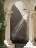 Claustro de la catedral del Aix, Francia Imagen de archivo