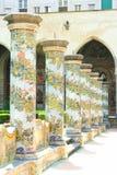 Claustro de Nápoles - de Santa Chiara Fotografia de Stock