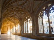 Claustro de nimos monastério do ³ de JerÃ, Belém, Lisboa, Portugal Fotos de Stock