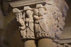 Claustro de San Juan de Duero Monastery en Soria fotografía de archivo libre de regalías