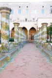 Claustro de Santa Chiara Fotos de archivo libres de regalías