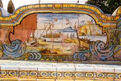 Claustro de Santa Chiara Foto de archivo libre de regalías