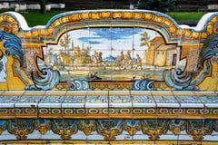 Claustro de Santa Chiara Fotografía de archivo libre de regalías