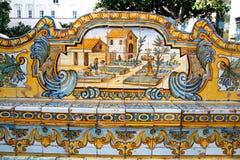 Claustro de Santa Chiara Fotos de archivo