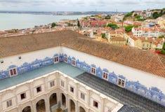 Claustro de St. Vincent fuera de las paredes, Lisboa Imagen de archivo libre de regalías