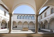 Claustro de um renascimento italiano do convento, Imagem de Stock Royalty Free