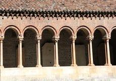 Claustro de una abadía antigua en San Zeno Basilica Foto de archivo libre de regalías