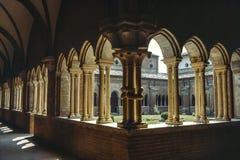 Claustro del della Colomba de Chiaravalle Foto de archivo