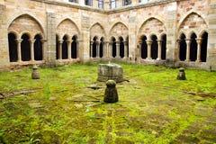 Claustro del monasterio, Aguilar de Campoo Fotografía de archivo libre de regalías