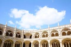 Claustro del monasterio de Jeronimos Fotografía de archivo