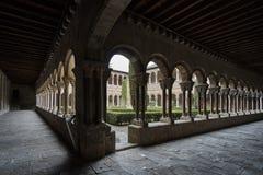 Claustro del monasterio Santa Maria Imagenes de archivo