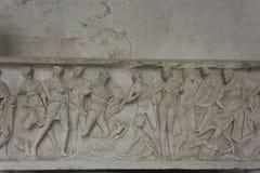 Claustro del paraíso, Amalfi, detalle Imágenes de archivo libres de regalías