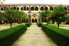 Claustro do monastério de Alcobaca, Alcobaca, Portugal Imagem de Stock