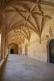 Claustro do monastério de Jeronimos Fotografia de Stock