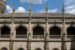 Claustro do monastério, Toledo, Espanha imagem de stock