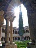Claustro do Romanesque Fotografia de Stock