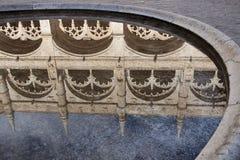 Claustro em dos Jeronimos de Mosteiro, Lisboa Fotografia de Stock