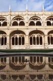 Claustro em dos Jeronimos de Mosteiro, Lisboa Imagens de Stock Royalty Free