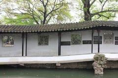 Claustro en el jardín de Zhuozheng, Suzhou China Foto de archivo