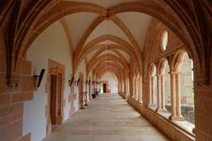 Claustro en la abadía de Citeaux Fotografía de archivo libre de regalías